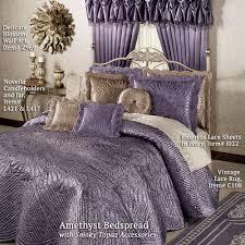 amethyst bedspread with smoky topaz accessories portia satin