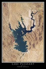 lake pleasant map lake pleasant arizona satellite poster map terraprints com