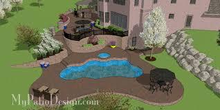 Terraced Patio Designs Terraced Patio Design With Swimming Pool In