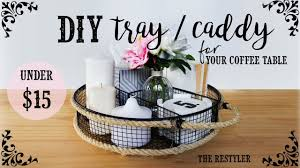 diy tray caddy how i style it farmhouse style coffee table