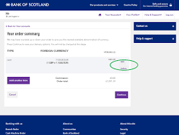 bank of scotland travel money internet banking quick guide