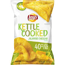 lay u0027s kettle cooked 40 less fat jalapeno cheddar potato chips 8