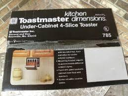 Under Cabinet 4 Slice Toaster vintage toastmaster under cabinet 4 slice toaster four new old