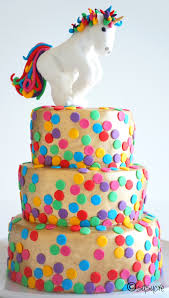 rainbow polka dots cake by susucre cakecentral com