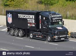 scania trucks scania truck and trailer promoting the nfl touchdown tour driving