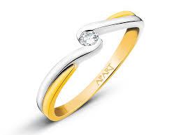 apart pierscionki zareczynowe pierścionek z żółtego złota z brylantem wzór 101 178 apart