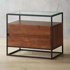 bedside table modern nightstands and bedside tables cb2