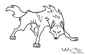 wolf tattoo by kayfedewa on deviantart