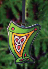 harp stained glass ornament harpcenter stained glass