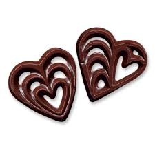 heart chocolate chocolate heart filigree decorations cupcake decorations