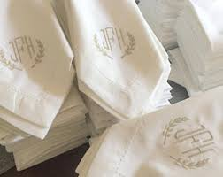 Wedding Linens Cheap Bulk Monogrammed Wedding Napkins Set Of 50 Custom Napkins