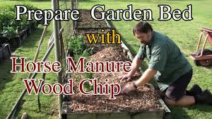 chicken manure vegetable garden how i prepare my vegetable garden beds using wood chip youtube