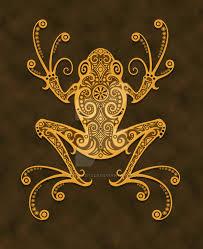 tribal tree frog by jeff bartels on deviantart