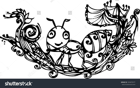 hand draw imagination ant create card stock vector 334675577