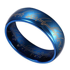 Blue Wedding Rings by Wedding Rings Mens Blue Wedding Bands With Tribal Accent Unique
