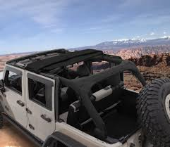 jeep soft top open bushwacker 14925 trail armor twill fast back soft top for 07 18 jeep