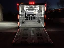 enclosed trailer led lights gooseneck cargo charmac trailers