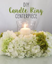 flower candle rings diy candle ring centerpiece candle rings silk flowers and hydrangea