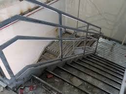 Metal Landing Banister And Railing Steel Stair Design Southern Steel Engineers