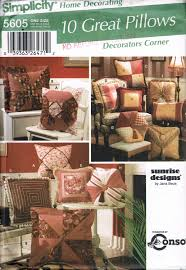 simplicity home decor quilted pillow sewing pattern fringe pillow hexagon pillow