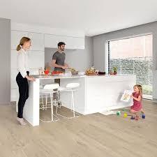 Quick Step Laminate Flooring For Kitchens Quickstep Livyn Pulse Click 4 5mm Cotton Oak Beige Vinyl Flooring