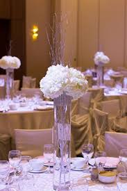 Diy Tall Vase Tall Rhinestone Trim Cylinder Vase With Silver Branches And White