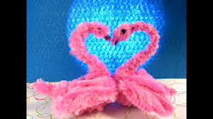 pipe cleaner crafts swan youtube