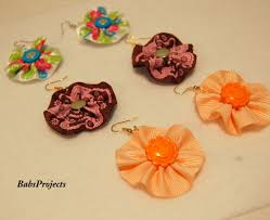 decorative ribbons make these earrings with decorative ribbons your