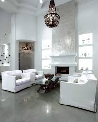 Modern Living Spaces White Walls Contrast With Polished Grey Concrete Floors By Couture