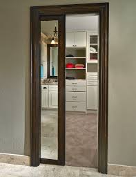 Pocket Closet Door Shepard Framed Mirror Pocket Door Transitional Closet