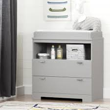 Changing Tables South Shore Reevo 2 Drawer Soft Gray Changing Table 10272 The