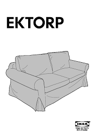 canapé convertible ektorp ektorp convertible 2 places idemo noir ikea ikeapedia