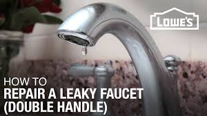 how to repair a single handle kitchen faucet how to fix a dripping or leaky double handle faucet youtube