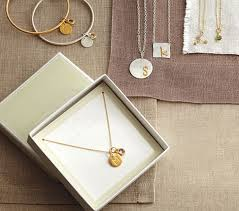 charm necklace with letters images Gold chain charm necklace pottery barn kids jpg
