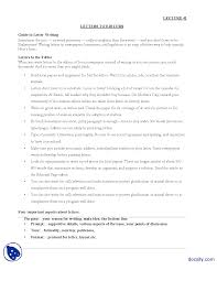 letters to editors journalistic writing lecture handout docsity