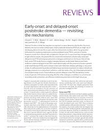 early onset and delayed onset poststroke dementia u2014 revisiting the
