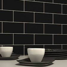 fresh black and white subway tile backsplash 9207