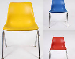 Molded Plastic Armchair Molded Plastic Chair Etsy