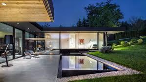Modern Retro Home Design Modern House With A Retro Car As A Focal Point Digsdigs