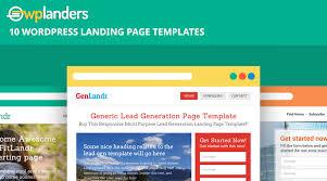 wordpress landing page template landing page wordpress