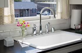 drop in kitchen sink with drainboard white drop in kitchen sink incredible amazing of farmhouse sinks