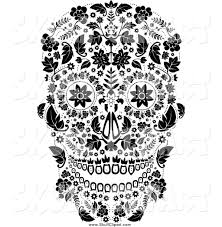 royalty free day of the dead stock skull designs