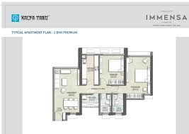 floor plans kalpataru immensa thane