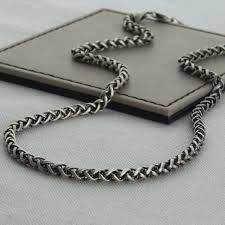 design sterling silver necklace images Heavy sterling silver detailed chain necklace hurleyburley jpg
