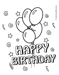 coloring pages happy birthday coloring pages to print happy