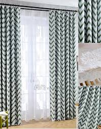 Chevron Pattern Curtains And Grey Geometric Pattern Modern Chevron Curtains