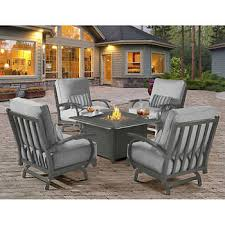 patio furniture with fire pit table outdoor fire pits chat sets costco