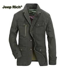 jeep rich jacket jeep rich men cotton blazer solid color business fall spring jacket