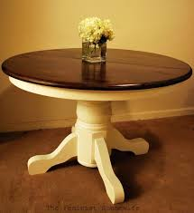 Dining Room Remodelaholic Re Stained And Painted White Oak - Amazing round white dining room table property