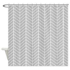 Grey Herringbone Curtains Cafepress Grey Herringbone Shower Curtain